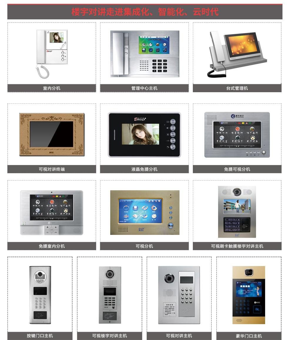 楼宇可视对讲系统包含的主要设备及外观